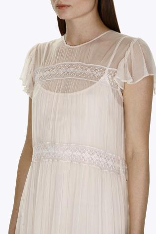 Vestido largo con adorno de encaje de Needle & Thread