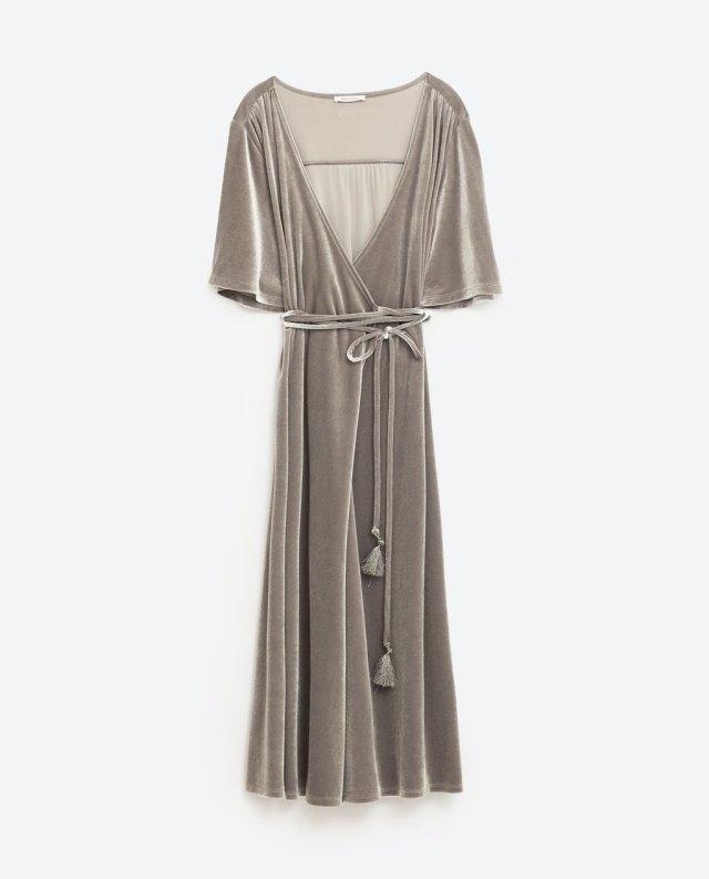 Zara vestido cruzado tipo kimono